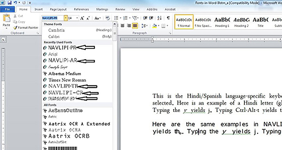 One Can Also Of Course Select The Font Size For Chosen Again From Word Processors Menu As Done Normally With Other Fonts Microsoft