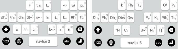 """universal alphabet"" ""phonemic alphabet"""